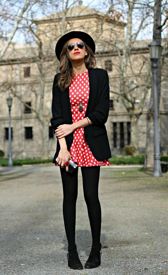 Look rojo y negro