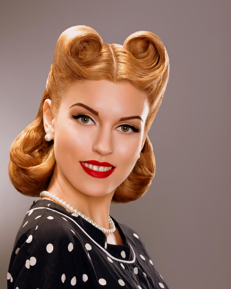 Bucles para un peinado Pin Up