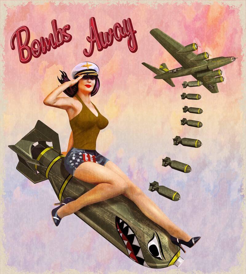 Chica Pin Up de la Segunda Guerra Mundial