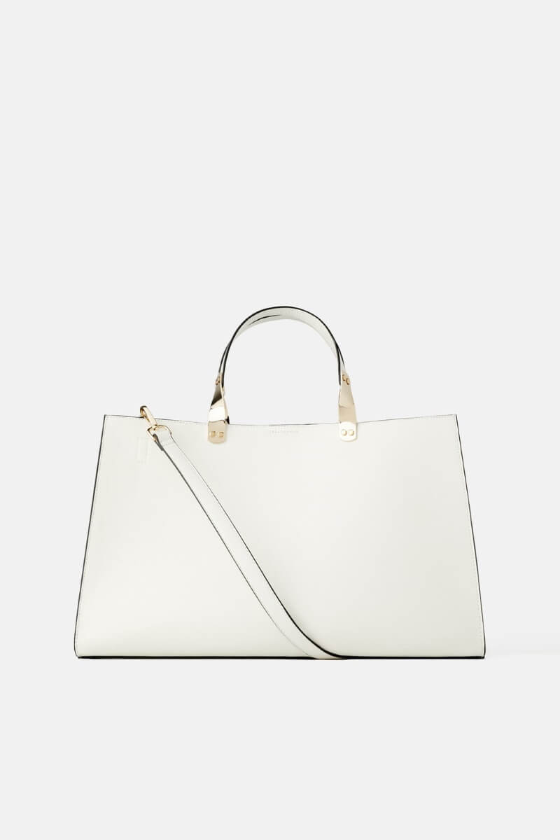 Bolso shopper blanco